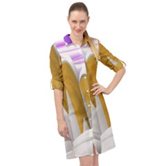 Europa Positive Thinking Mountain Long Sleeve Mini Shirt Dress