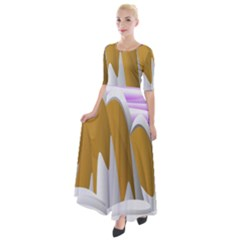 Europa Positive Thinking Mountain Half Sleeves Maxi Dress by Pakrebo