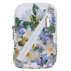 Flowers Lilies Arrangement Bouquet Belt Pouch Bag (large)