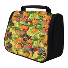 Background Pattern Structure Fruit Full Print Travel Pouch (small)