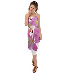 Lily Belladonna Easter Lily Waist Tie Cover Up Chiffon Dress