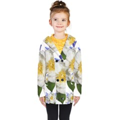 Flowers Camellia Bluebells Fragrant Kids  Double Breasted Button Coat by Pakrebo