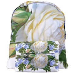 Rose White Flower Plumbago Giant Full Print Backpack