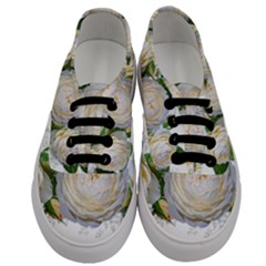Flowers Roses White Fragrant Men s Classic Low Top Sneakers