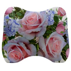 Roses Plumbago Flowers Fragrant Velour Head Support Cushion