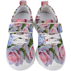 Roses Plumbago Flowers Fragrant Kids  Velcro Strap Shoes