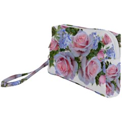 Roses Plumbago Flowers Fragrant Wristlet Pouch Bag (small)