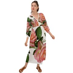 Roses Flowers Perfume Garden Grecian Style  Maxi Dress