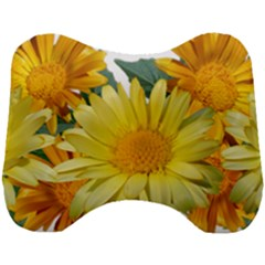 Daisies Flowers Yellow Arrangement Head Support Cushion