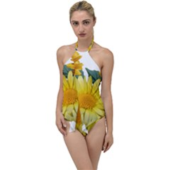 Daisies Flowers Yellow Arrangement Go With The Flow One Piece Swimsuit