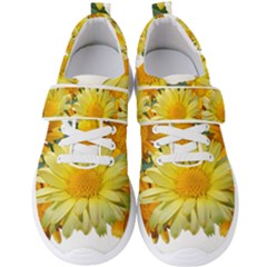Daisies Flowers Yellow Arrangement Men s Velcro Strap Shoes