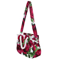 Roses Flowers Red Romantic Garden Rope Handles Shoulder Strap Bag by Pakrebo