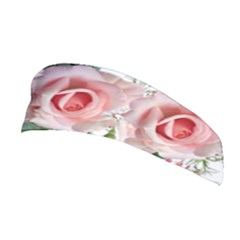 Roses Flowers Wax Flowers Stretchable Headband