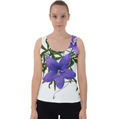 Flowers Blue Campanula Arrangement Velvet Tank Top