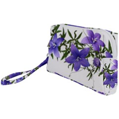 Flowers Blue Campanula Arrangement Wristlet Pouch Bag (small)
