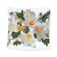 Lilies Belladonna White Flowers Square Tapestry (small)