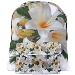 Lilies Belladonna White Flowers Giant Full Print Backpack