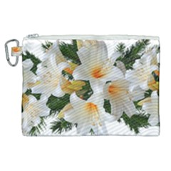 Lilies Belladonna White Flowers Canvas Cosmetic Bag (xl)