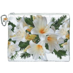 Lilies Belladonna White Flowers Canvas Cosmetic Bag (xxl)