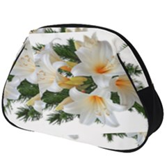 Lilies Belladonna White Flowers Full Print Accessory Pouch (big)