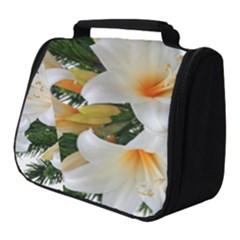 Lilies Belladonna White Flowers Full Print Travel Pouch (small)