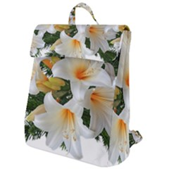 Lilies Belladonna White Flowers Flap Top Backpack