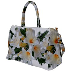 Lilies Belladonna White Flowers Duffel Travel Bag