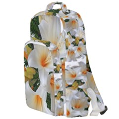 Lilies Belladonna White Flowers Double Compartment Backpack