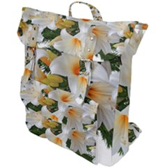 Lilies Belladonna White Flowers Buckle Up Backpack