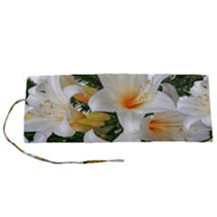 Lilies Belladonna White Flowers Roll Up Canvas Pencil Holder (s)