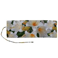 Lilies Belladonna White Flowers Roll Up Canvas Pencil Holder (m)
