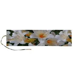Lilies Belladonna White Flowers Roll Up Canvas Pencil Holder (l)