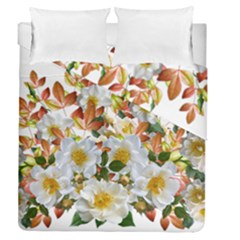Flowers Roses Leaves Autumn Duvet Cover Double Side (queen Size)