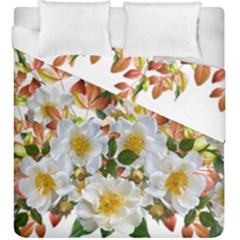Flowers Roses Leaves Autumn Duvet Cover Double Side (king Size)