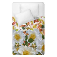 Flowers Roses Leaves Autumn Duvet Cover Double Side (single Size)
