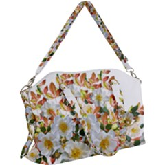 Flowers Roses Leaves Autumn Canvas Crossbody Bag