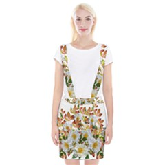 Flowers Roses Leaves Autumn Braces Suspender Skirt