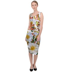 Flowers Roses Leaves Autumn Sleeveless Pencil Dress