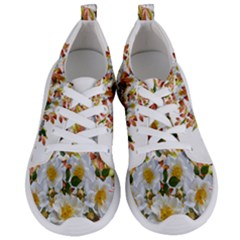 Flowers Roses Leaves Autumn Women s Lightweight Sports Shoes