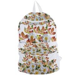 Flowers Roses Leaves Autumn Foldable Lightweight Backpack