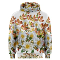 Flowers Roses Leaves Autumn Men s Overhead Hoodie