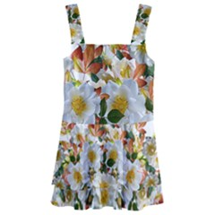 Flowers Roses Leaves Autumn Kids  Layered Skirt Swimsuit