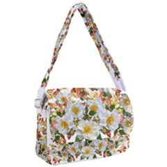 Flowers Roses Leaves Autumn Courier Bag