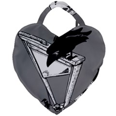 Gallows Raven Chopped Giant Heart Shaped Tote