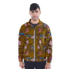 Textile Flowers Pattern Men s Windbreaker