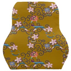 Textile Flowers Pattern Car Seat Back Cushion