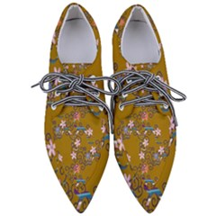 Textile Flowers Pattern Women s Pointed Oxford Shoes
