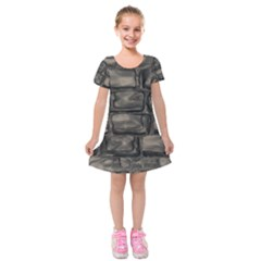 Stone Patch Sidewalk Kids  Short Sleeve Velvet Dress by HermanTelo