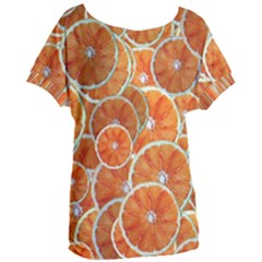 Oranges Background Women s Oversized Tee by HermanTelo
