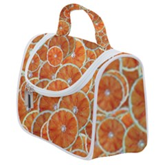 Oranges Background Satchel Handbag
